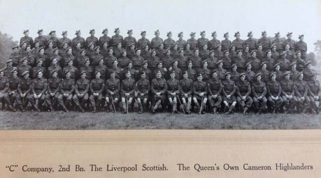 the Liverpool Scottish, attached to the Queen's Own Cameron Highlanders, based in Bexhill