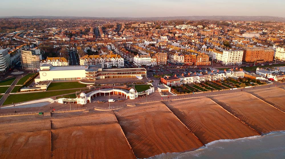 Bexhill from above