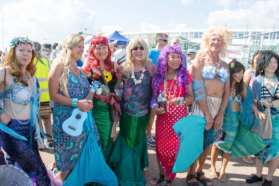 More mermaids at the Bexhill Festival of the Sea