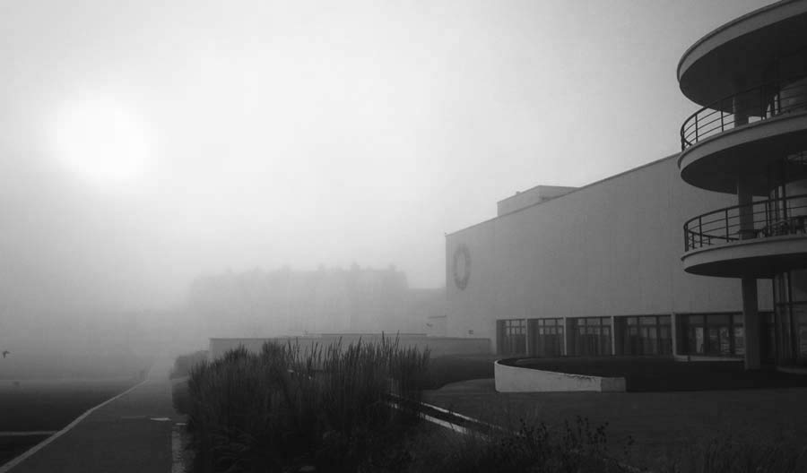 Mist over the De La Warr Pavilion