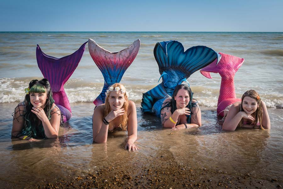 Mermaids at the Bexhill Festival of the Sea
