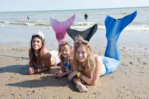 Mermaids at the Bexhill Festival of the Sea - photo