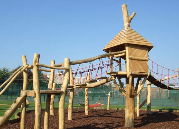 The adventure playground at Egerton Park