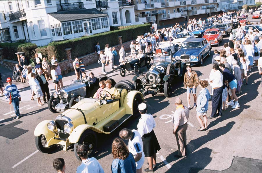A parade of cars at the first Bexhill 100 Festival of Motoring