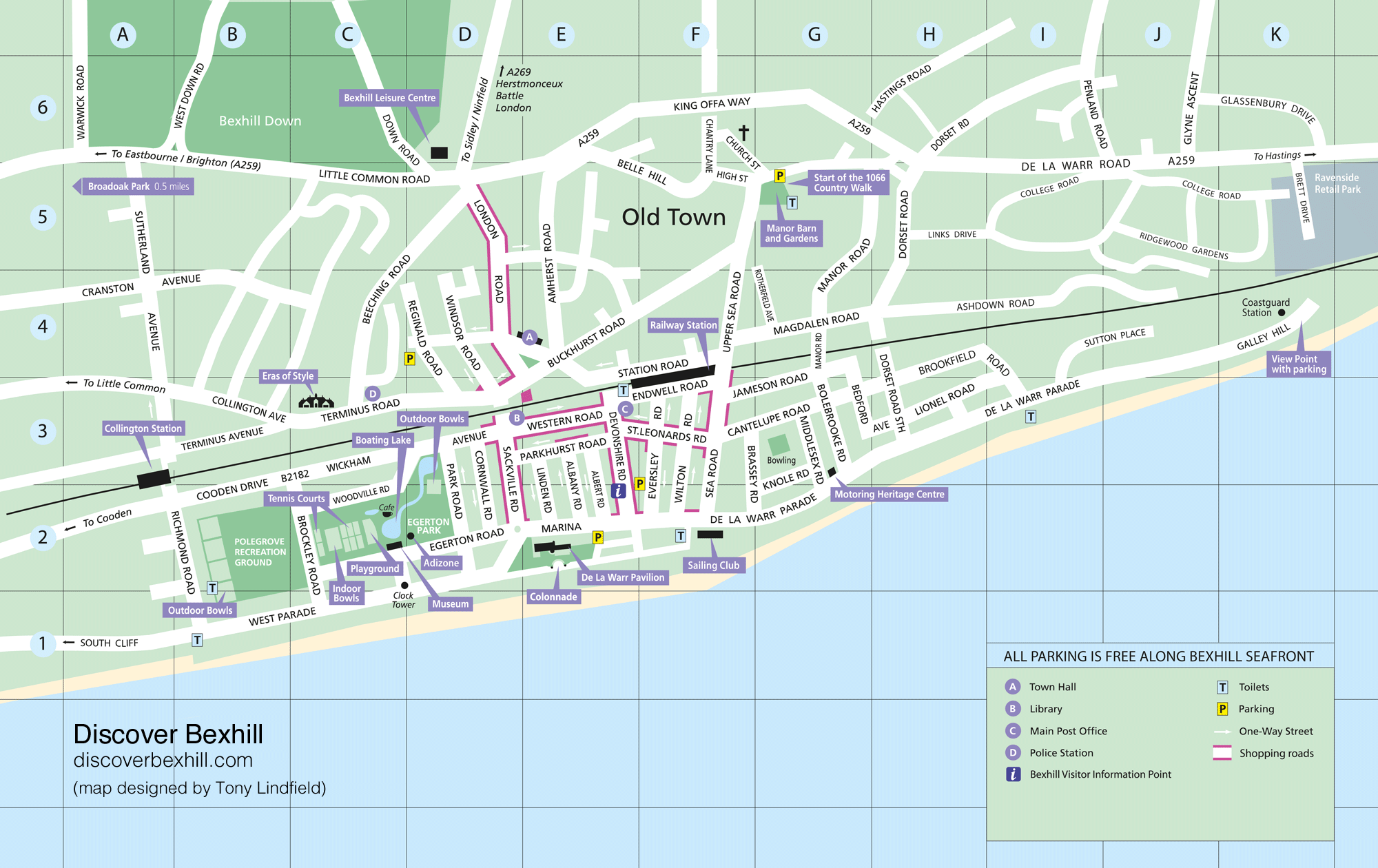 Map of Bexhill