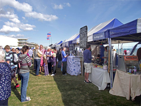 Stalls at the lawn festival