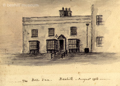 Bell Inn 1866, watercolour